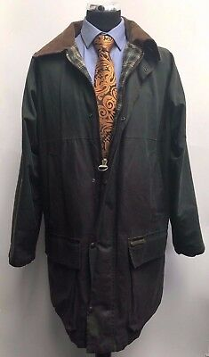 Jt148 Rare Vintage Westfield Olive Green  Wax Jacket With Classic Inner Tartan