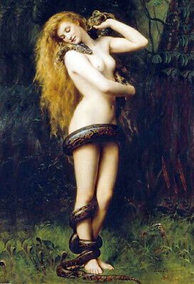LILITH * QUALITY CANVAS PRINT * John Collier