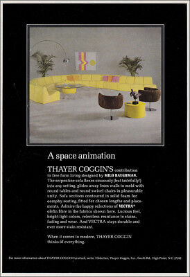 1970 Thayer Coggin: A Space Animation Vintage Print Ad