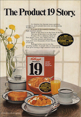 1971 Kellogg's Product 19 Cereal: The Product 19 Story Vintage Print Ad
