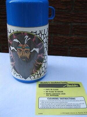 Vintage New 1993 King Arthur Knights Of Justice Aladdin Plastic Thermos Nos
