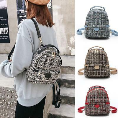 Women s Small Mini Crochet Backpack Rucksack Daypack Travel Bag Purse Cute  New Y bb9f782c5d668