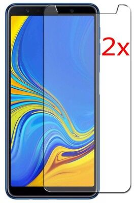 2x For Samsung Galaxy A7 (2018) Premium 9H Tempered Glass Screen Protector DOD