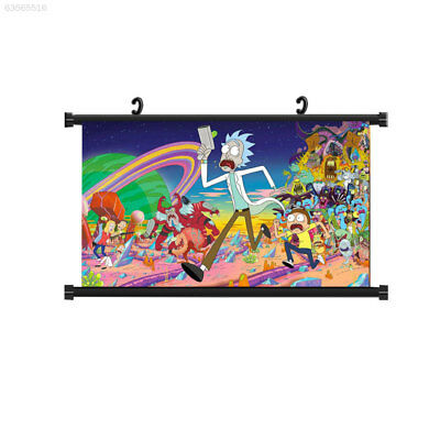 3DC7 BF5E Drawing Rick and Morty Colorful Character Plastic Anime Painting
