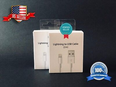 2 PACK OEM Original Lightning USB Charger Cable For Appl phone X 7 8 Plus 2M
