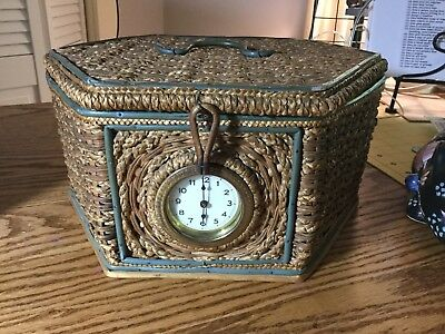 Sewing Basket With Clock