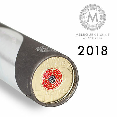 2018 $2 Remembrance Day Armistice Cotton & Co Certified Roll (25 Coins)