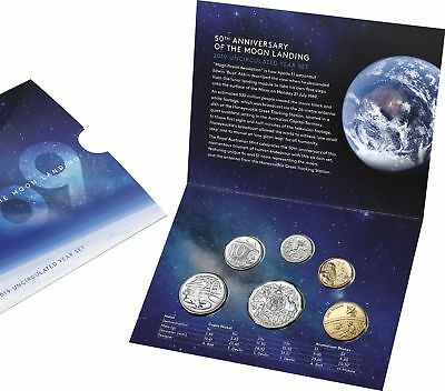 2019 Royal Australian Mint 6 Coin Mint Set -50th Anniversary of the Moon Landing