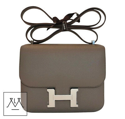 064b27fc0c Hermès Mini Constance 18cm Bag Gris Etain Epsom Leather PHW - 100% Authentic