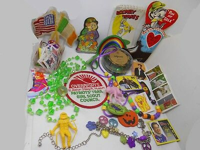 Junk Drawer Lot  Mixed Lot  5 Vintage Items Irish Toys Boston, flag Collectibles