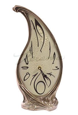 NEW Art Nouveau Melting Clock 8388 Magnificent! Ship Immediately