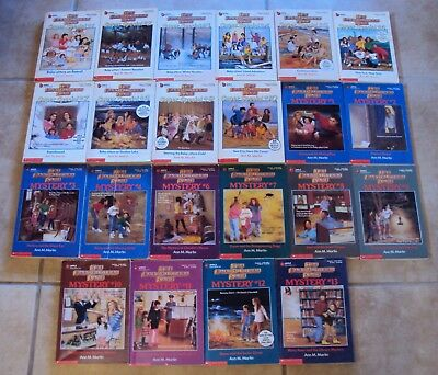 The Baby-Sitters Club Lot 22 Books Super Special 1-10 plus Mystery Ann M Martin