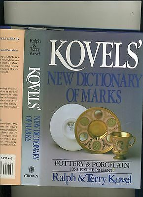 Kovels' New Dictionary Of Marks-Pottery/porcelain 1850-Present-Hb/j 1986-Fn