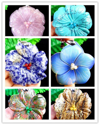 Beautiful Unique Mix And Match Hand Carved Flower Pendant Bead DA255