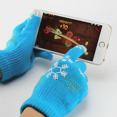 Knitted Wool Winter Women/Men Hand Wrist Warmer Fingerless Touch Screen Gloves