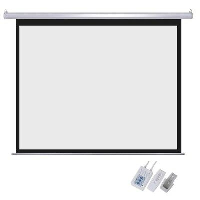 """100"""" Electric Projector Motorized Projection Screen Remote Control Home Cinema"""