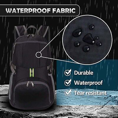 New 35L Foldable Backpack Waterproof Durable Nylon Travel Camping Backpack Bag