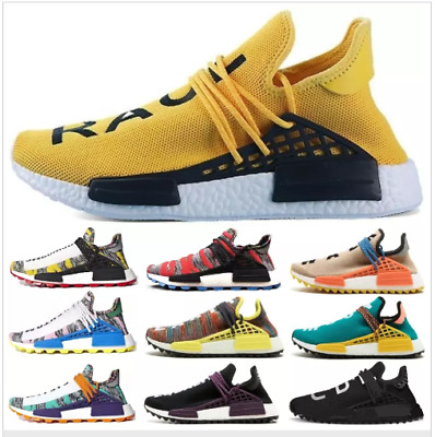 a79f1c1eef3 2019 NMD Human Race Mens Running Shoes With Box Pharrell Williams Sample  Yellow