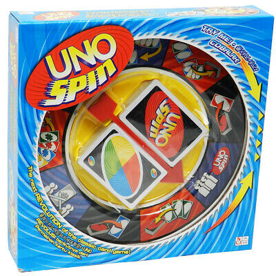 Kids Adults Family UNO Board Game Playing Cards With SPIN Revolution Plate