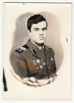 orig.photo Russian soldier junior sergeant Radiotechnics.Military USSR-1970s