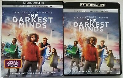 The Darkest Minds 4K Ultra Hd Blu Ray 2 Disc Set + Slipcover Sleeve Free Shippin