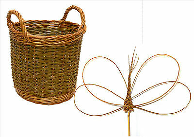 Make this willow Apple Basket and 3 willow Dragonflies, 2  kits for beginners.