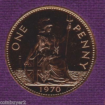 Large Proof 1970 Great Britain Penny ~ Last Year Minted ~ FREE SHIPPING