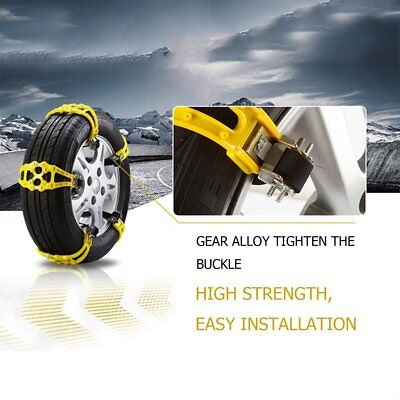 1PCS Car Truck Snow Ice Wheel Tyre Tire Anti-skid Chains Thickened Tendon Kit S