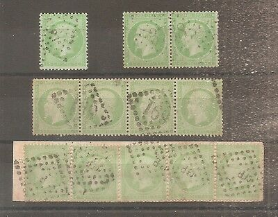Lot Timbre France Frankreich 1862 N°20 Oblitere Used Paire Bande....