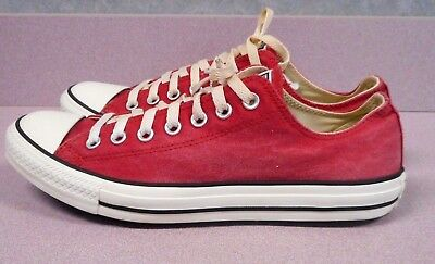 Converse All Star Low Top Adult Shoes Men's Size 9 Women's 11 Red Canvas