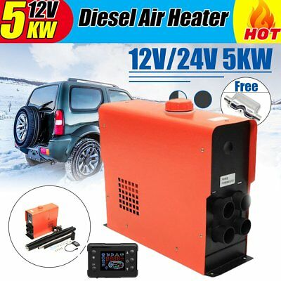 5000W Air diesel Heater LCD Monitor 5KW 12V For Trucks Motor-Homes Boats Bus Car