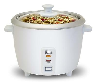 Rice Maker 6 Cup Food Steamer Cooker Warmer Kitchen Cooking Appliances White NEW