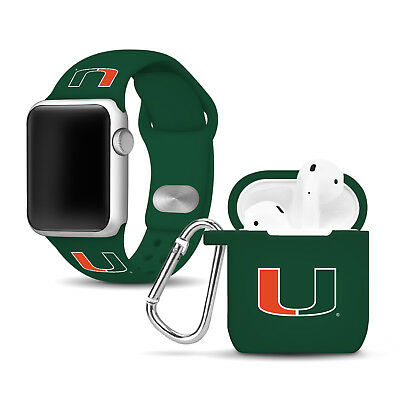 Miami Hurricanes Apple Compatible Combo Package - Green/Green