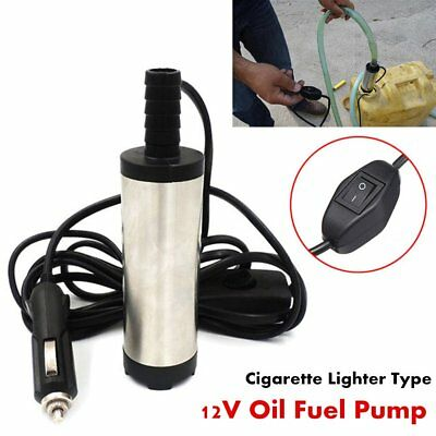 DC12V 38mm Submersible Pump Water Oil Diesel Fuel Transfer 12L/min 8700r/min F7