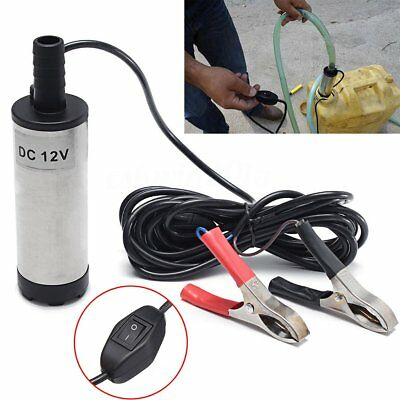 DC12V 38mm Electric Submersible Water Pump Oil Fuel Transfer 12L/min 8700r/minKT