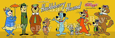 EXTRA LARGE HUCKLEBERRY HOUND SHOW Panoramic Photo Print HANNA BARBERA