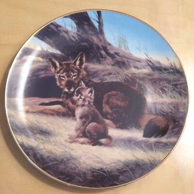 """The Red Wolf"" by Will Nelson Collector Plate by Bradex"