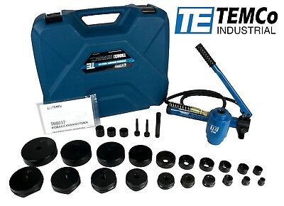 "TEMCo 4"" HYDRAULIC KNOCKOUT PUNCH Electrical Conduit Hole Cutter Set KO Tool Kit"