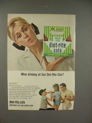 1965 Diet-Rite Cola Soda Ad - Who's Drinking?