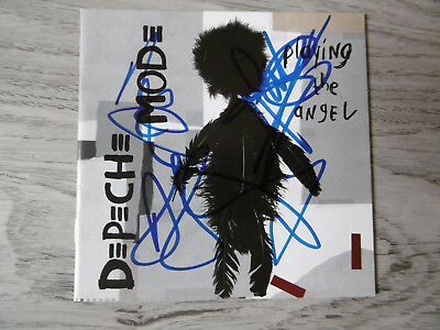 """Depeche Mode Autogramme signed CD Booklet """"Playing The Angel"""""""