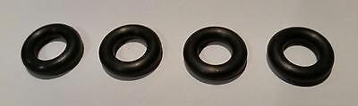 4 NEW REPLACEMENT TYRES 15mm to suit EARLY DINKY MECCANO Smooth Black Tires