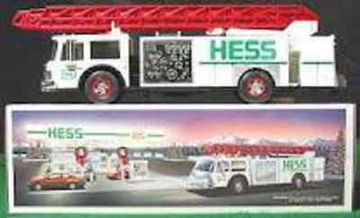Hess* 1989* White* Fire* Truck* Bank* Toy* Truck*  Mib*