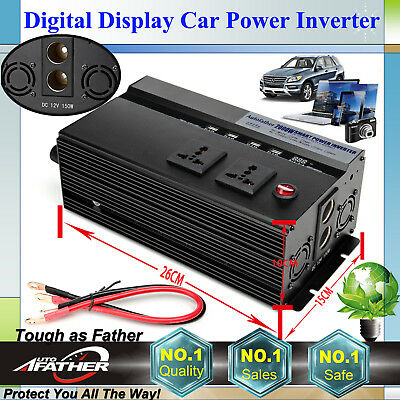 Car Power Inverter 2000W 4000W Peak 12V-110V Camping Caravan Modified Sine Wave