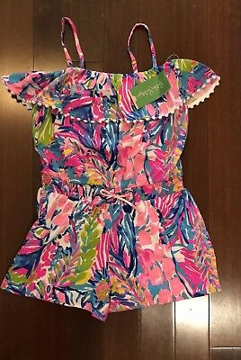 c22de0b59dfb64 LILLY PULITZER GIRLS Romper Medium 6-7 Get Crackin - $17.00 | PicClick