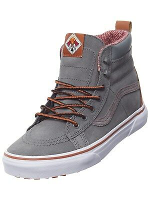 Vans Skate High Top Kids Sneakers Lace Up MTE Castor Gray Choose Your Size Kids