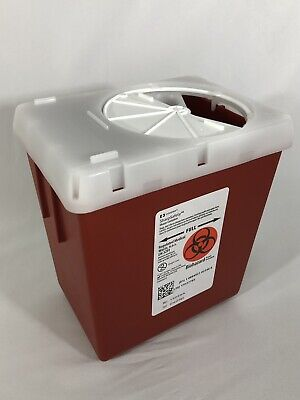 57 SharpsSafety 1522SA 2.2 Quart Needle Container Tattoo Diabetes Flu New!
