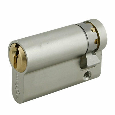 Maxus Pro 6 Pin Euro Single Cylinder 50mm Nickel Plated
