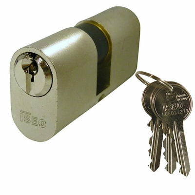 Iseo 5 Pin Oval Double Cylinder 80mm 40/40 Nickel Plated