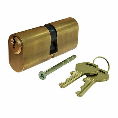 GeGe pExtra 80mm 40/40 6 Pin Restricted Oval Double Cylinder Polished Brass