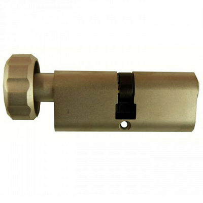 GeGe pExtra 6 Pin Restricted Oval Thumbturn Cylinder 80mm 40/40 Polished Brass